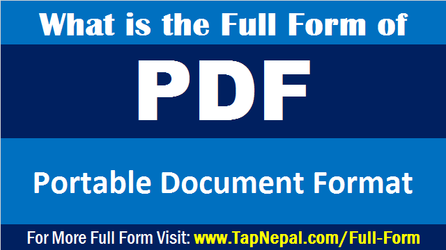 PDF Full Form | What is the Full Form of PDF