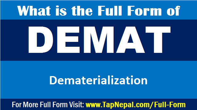 What is the Full Form of DEMAT