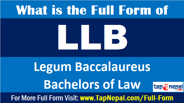 What is the Full Form of LLB