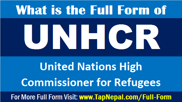 What is the Full Form of UNHCR