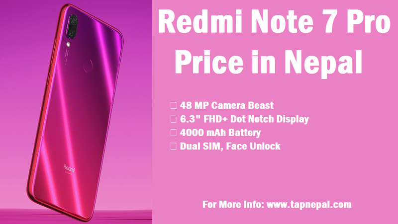 Xiaomi Redmi Note 7 Pro Price in Nepal 2020 with Full Specs