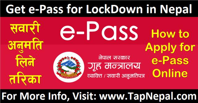 epass for lockdown in Nepal